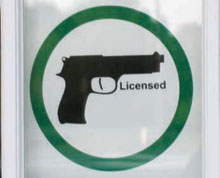 Carry License: ACCW friendly sign produced by CCWorks, LLC in Wichita KS.