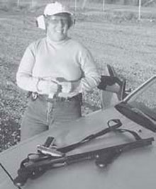 Concealed Carry: Kate with her pistol-grip shotgun and Kimber Ultra Carry