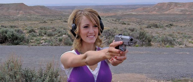 George Hill's sister-in-law, McKenna Wheeler. She enjoys shooting and hunting.