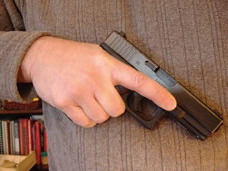 Practice safe gun handling. Keep your finger off the trigger until ready to fire.