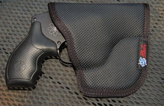 The DeSantis Nemesis pocket holster adequately covered the S&W 340 PD's trigger while standing the gun upright in my pocket.