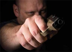 The reaction is a routine or a sequence of events that ends with you deciding whether to discharge your firearm and then securing your immediate area.